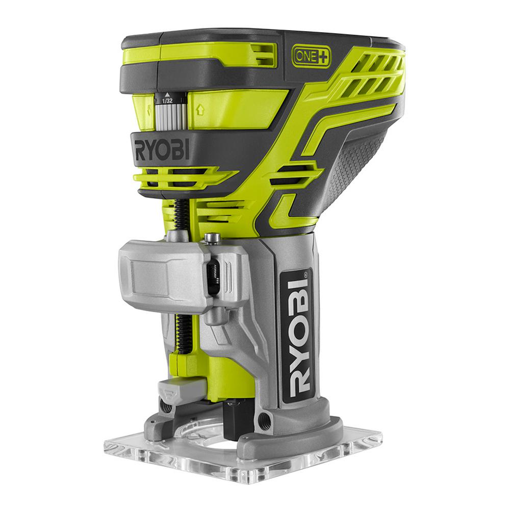 Ryobi 18 volt one cordless fixed base trim router tool only with ryobi 18 volt one cordless fixed base trim router tool only with tool greentooth Image collections