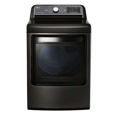 7.3 cu. ft. Gas Dryer with Turbo Steam in Black Stainless