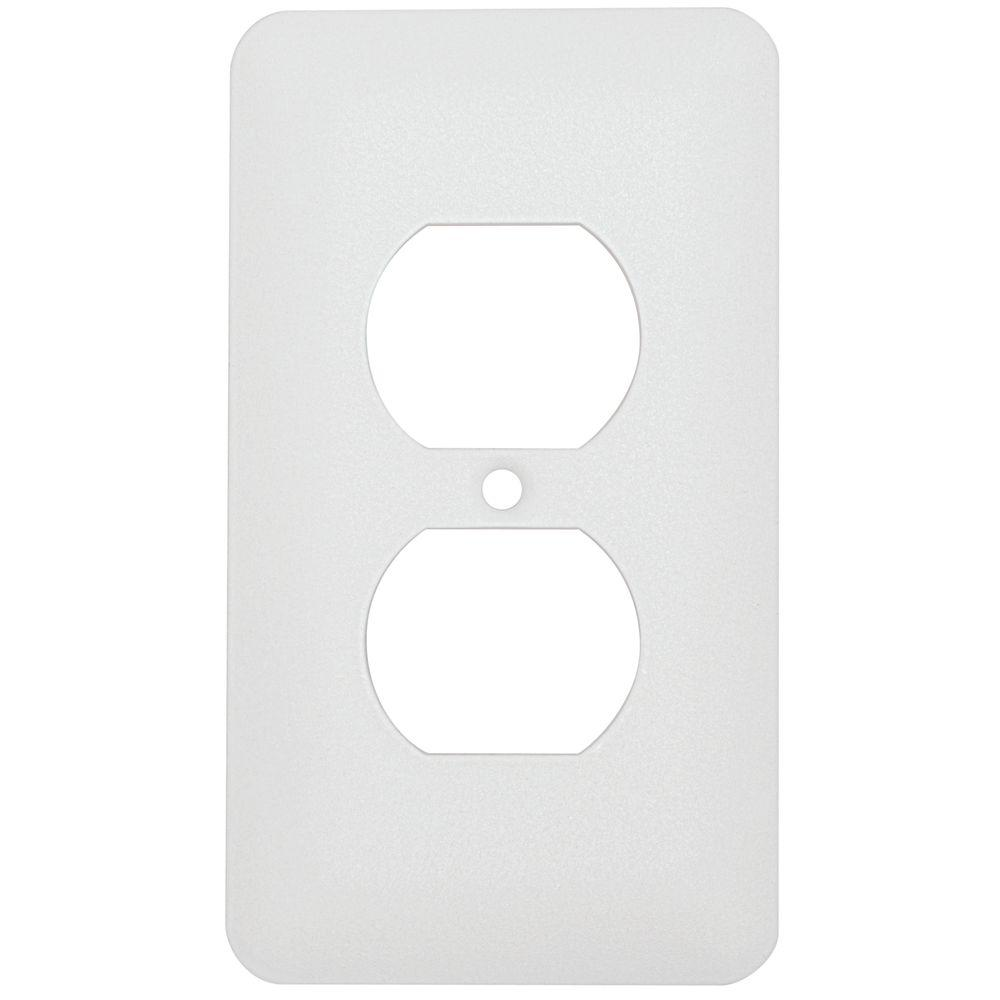 mulberry princess 1 duplex wall plate white wrinkle