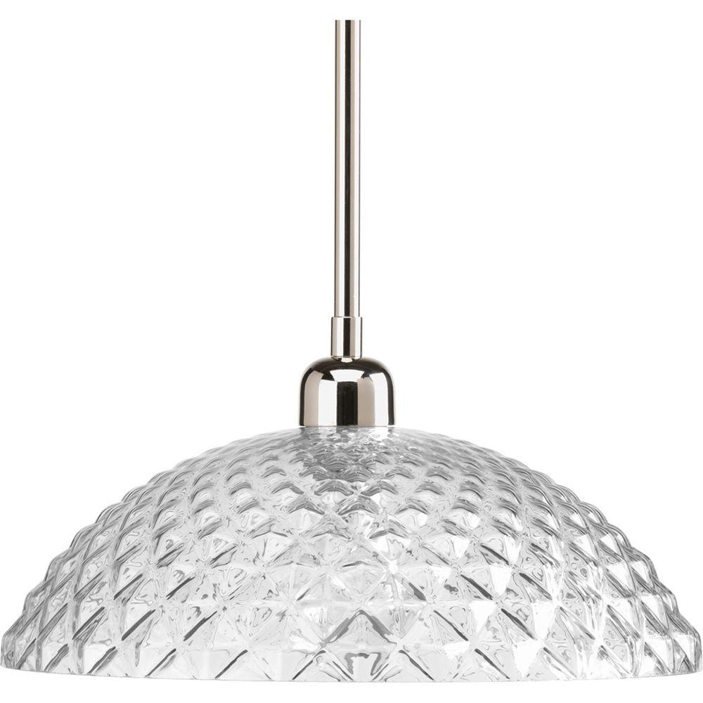 Progress Lighting Entice Collection 1-Light Polished Nickel Pendant