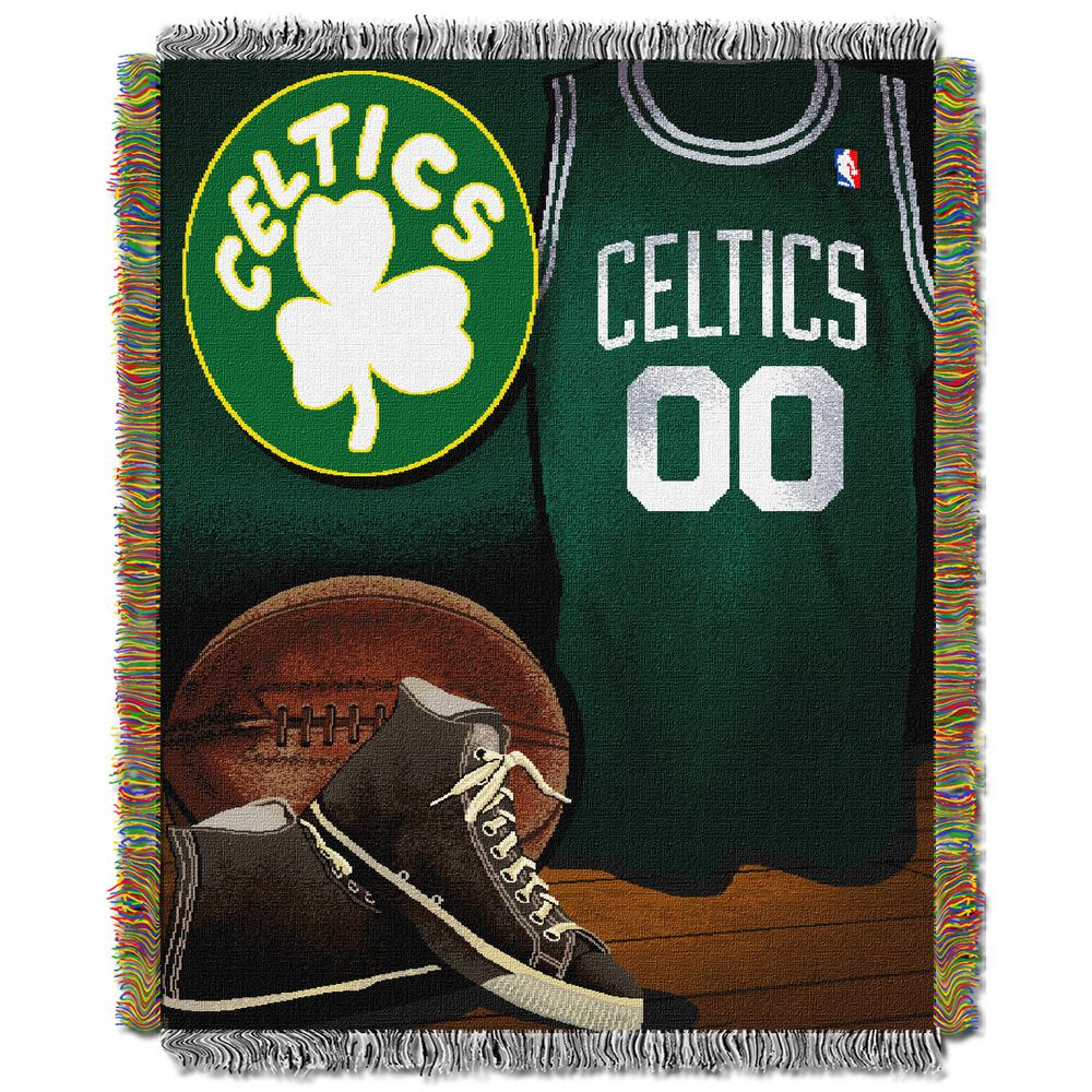 Celtics Vintage Multi Color Polyester Tapestry throw
