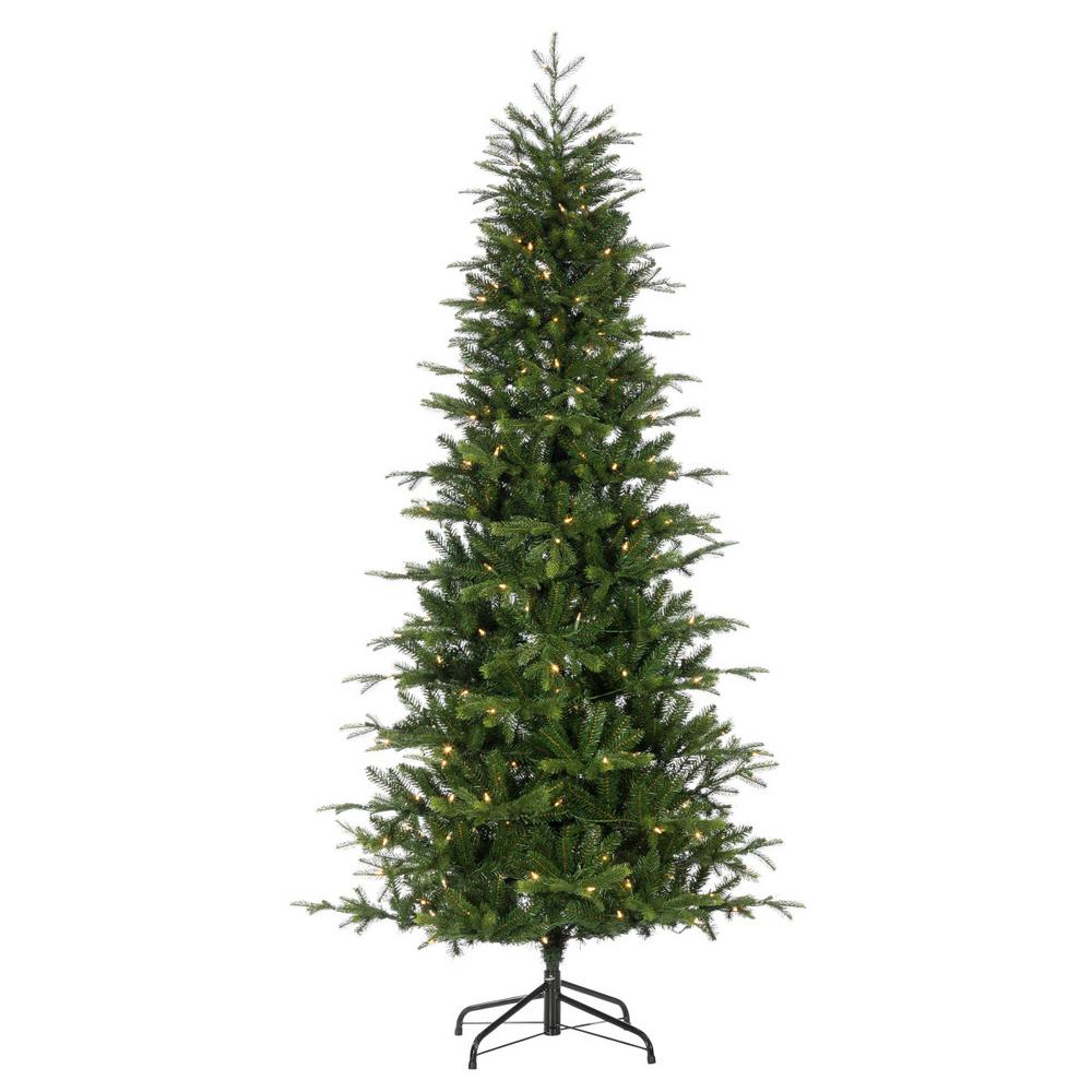National Tree Company 7.5 ft. Nordic Spruce Slim Artificial ...
