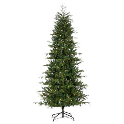 7.5 ft. Natural Cut Santa Fe Pine Artificial Christmas Tree with 250 UL Color Changing LED Lights and 4-Function Remote