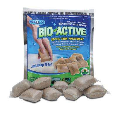 Bio-Active Drop-Ins Septic Additive (12-Pack) 1 years supply