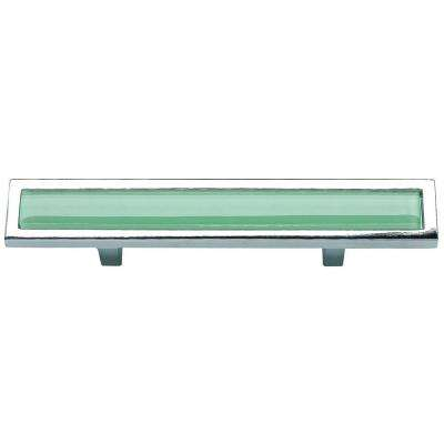 Spa Collection Polished Chrome 5.75 in. Green Pull
