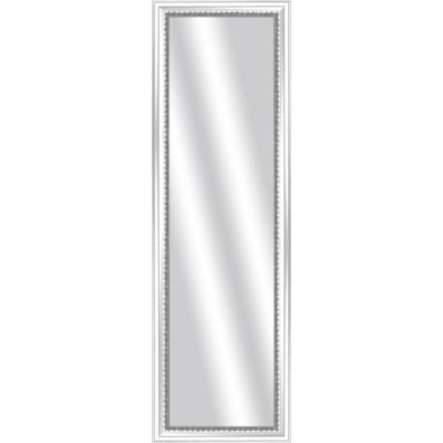 Large Rectangle White Art Deco Mirror (52.375 in. H x 16.375 in. W)
