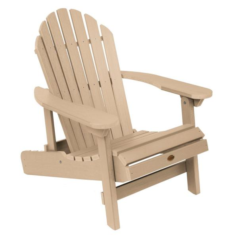 Hamilton Tuscan Taupe Folding and Reclining Plastic Adirondack Chair