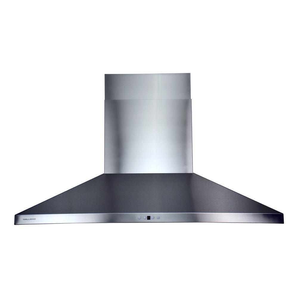 Adjustable Chimney Style Range Hoods ~ Hallman in wall mount chimney style range hood with