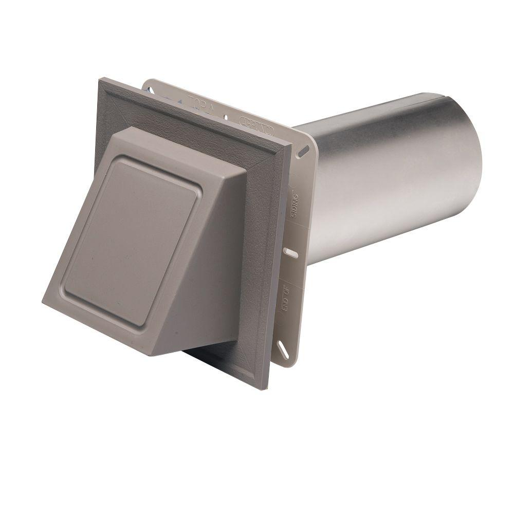 Nantucket Gray Hooded Dryer Vent