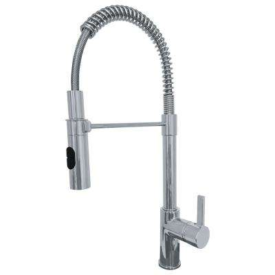 Fuji Single-Handle Pull-Down Sprayer Kitchen Faucet with Fast-in Quick Install System in Satin Nickel