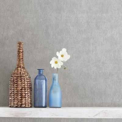56.4 sq. ft. Hancock Light Grey Textured Wallpaper