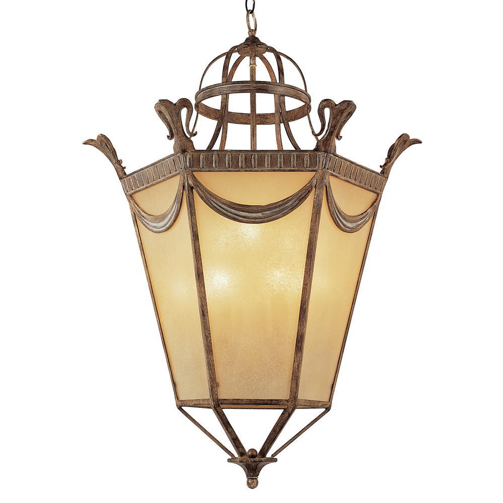 Artisan 40 in. 9-Light Bronze Indoor Pendant