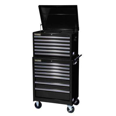 Tech Series 27 in. 13-Drawer Tool Chest and Cabinet Combo in Black