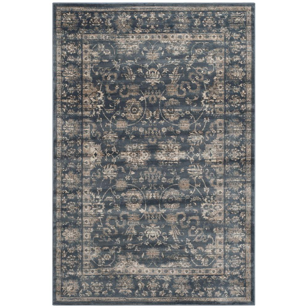 Safavieh Vintage Dark Blue Cream 8 Ft X 11 Ft Area Rug