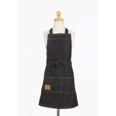 Vintage Draper Denim Kids Butcher Apron, Indigo Blue