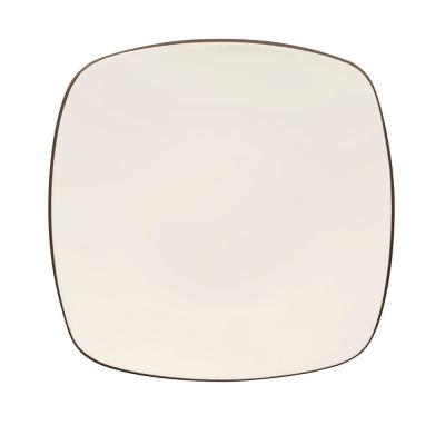 Colorwave 8.25 in. Chocolate Square Salad Plate