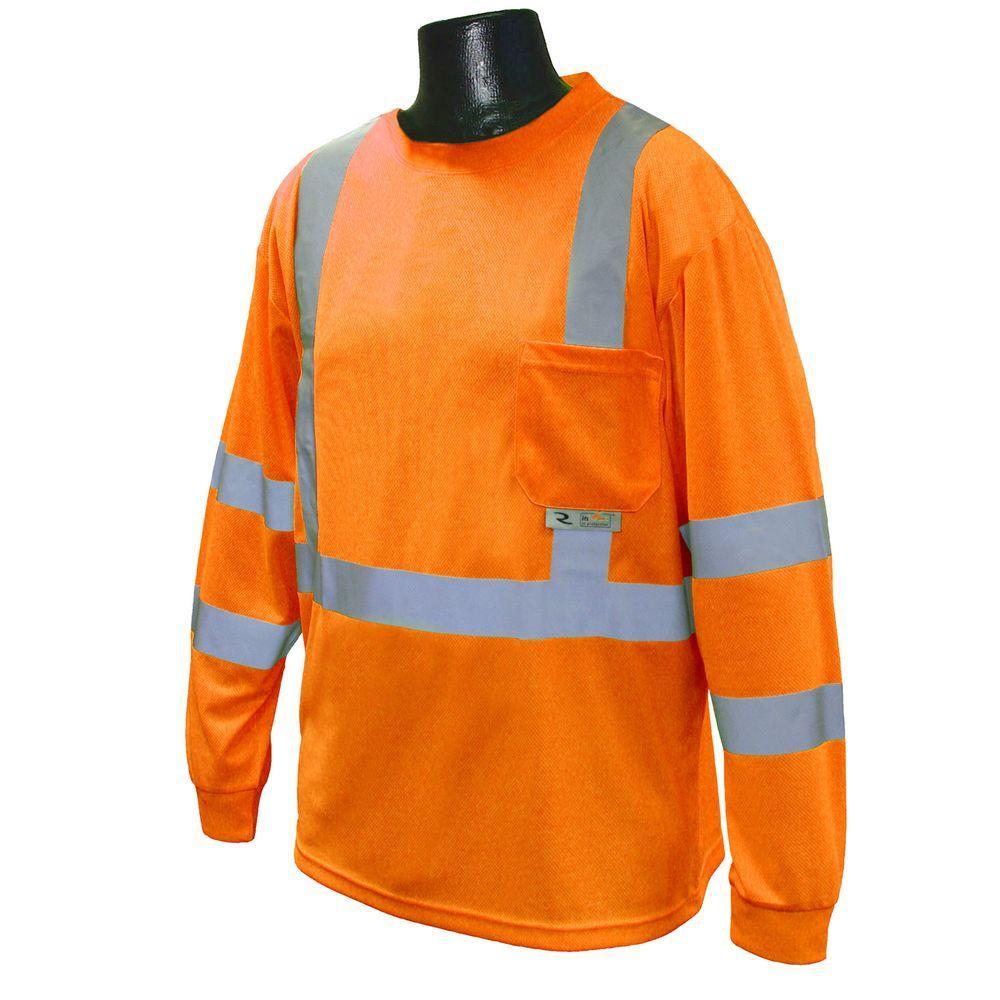 Class 3 2X-Large Orange T-Shirt Moisture Wicking