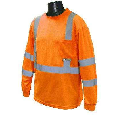 Class 3 X-Large Orange T-Shirt Moisture Wicking