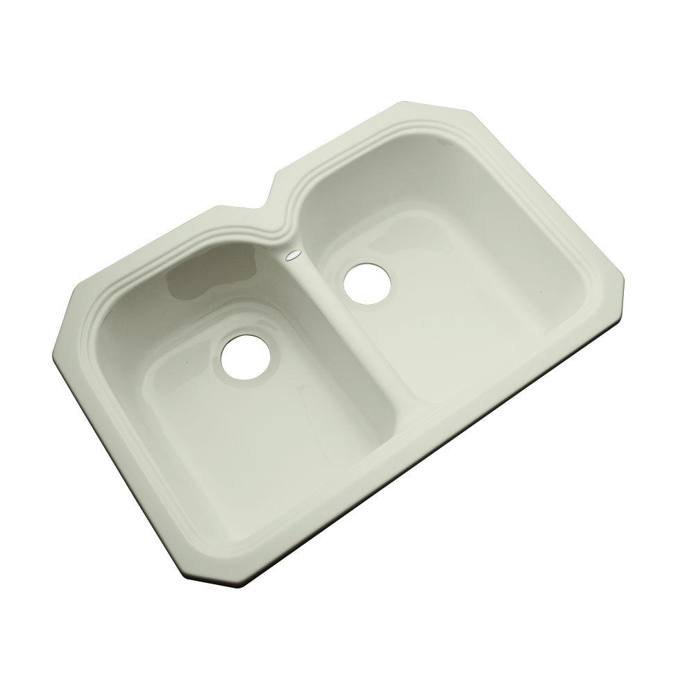 Hartford Undermount Acrylic 33 in. Double Bowl Kitchen Sink in Jersey
