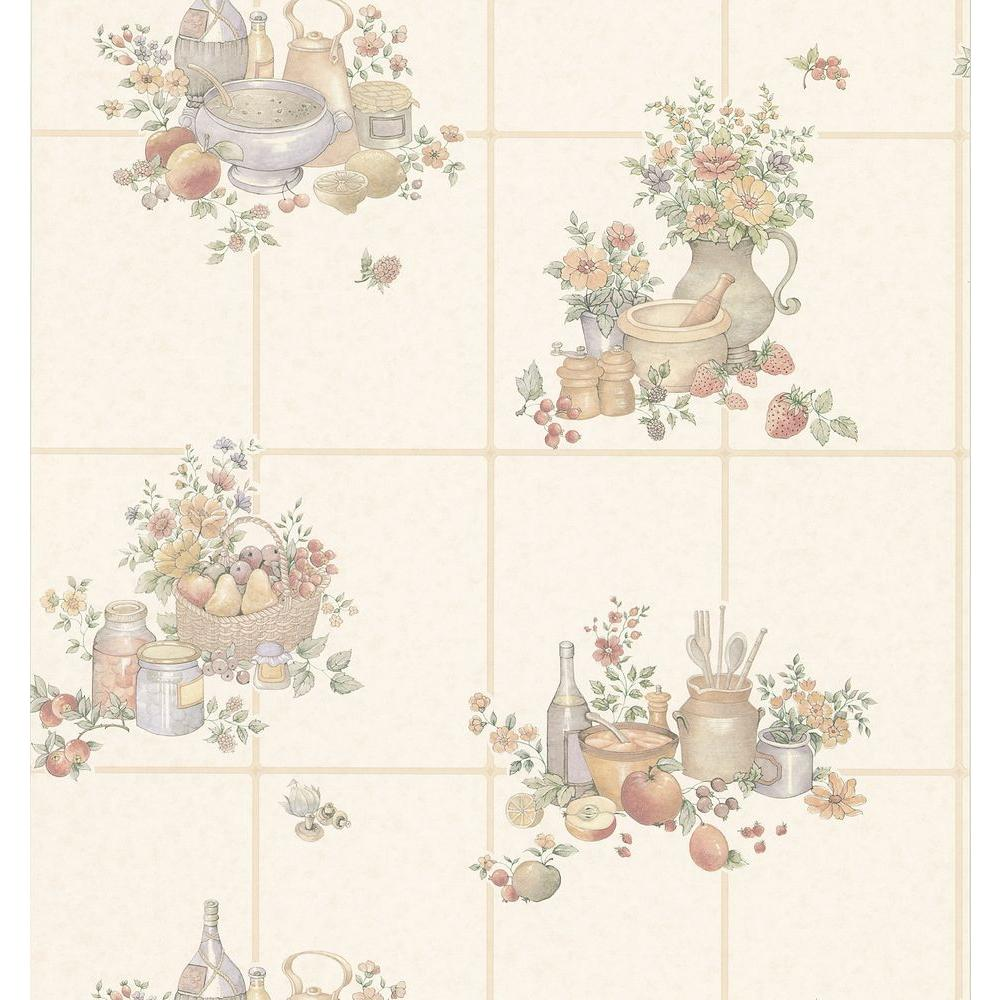 Brewster Kitchen Tile Wallpaper 402 11545 The Home Depot