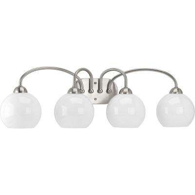 Carisa Collection 4-Light Brushed Nickel Bath Light