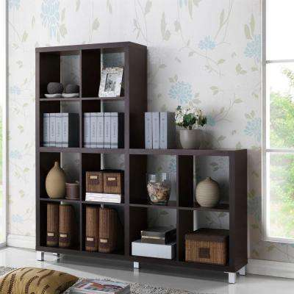 Sunna Dark Brown Open Bookcase