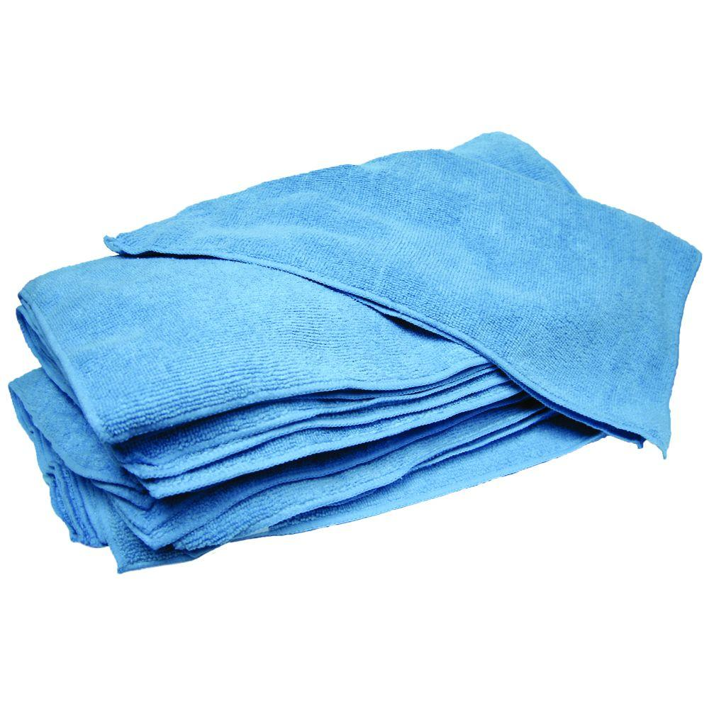 null 14 in. x 14 in. Blue Terry Microfiber Towels (Case of 300)