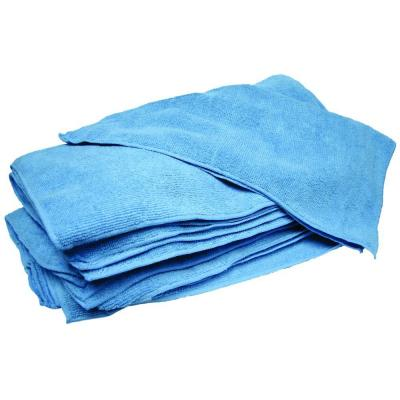 14 in. x 14 in. Blue Terry Microfiber Towels (Case of 300)