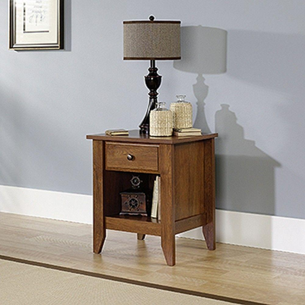 SAUDER Shoal Creek 1 Drawer Soft White Nightstand The