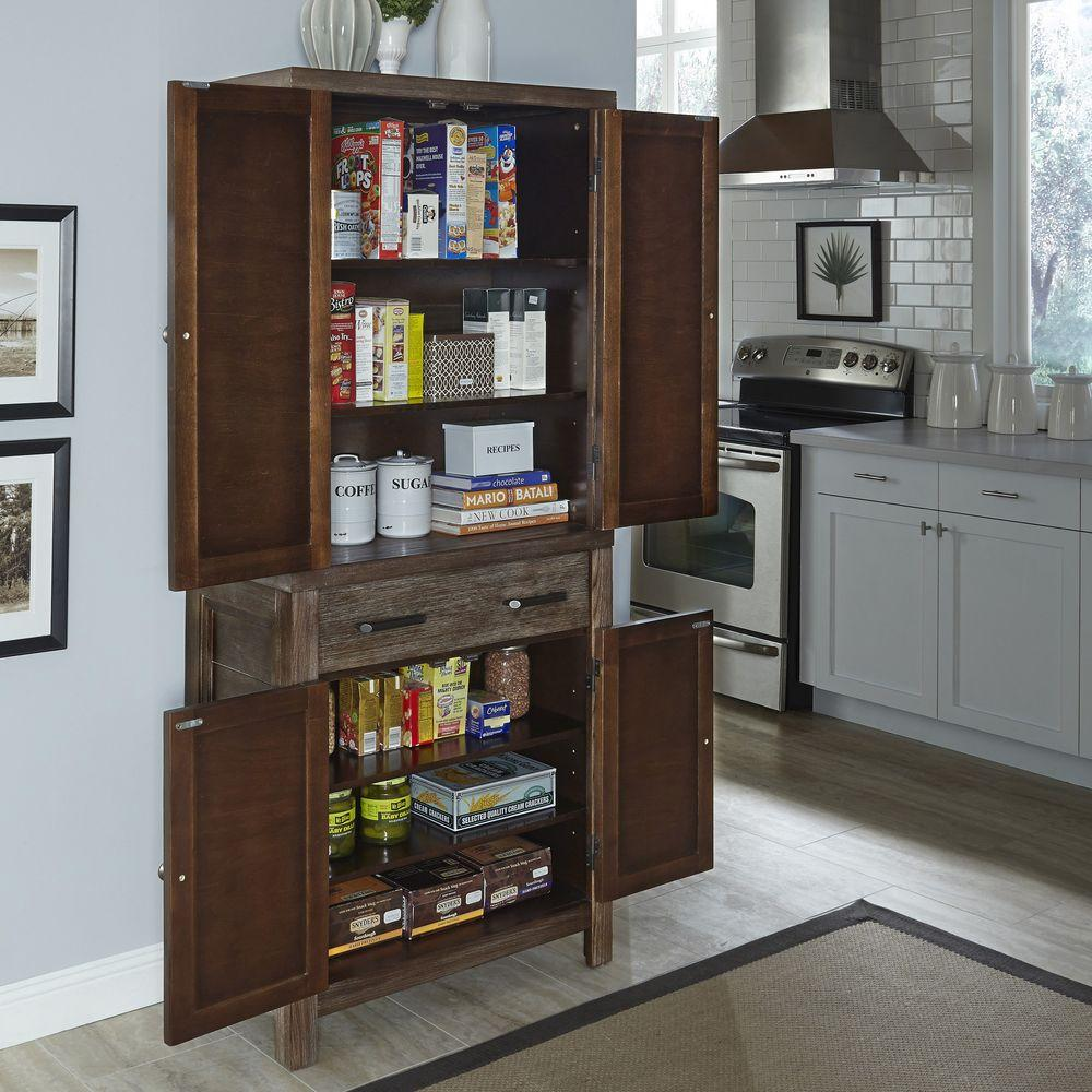 small pantry cabinet home styles barnside weather aged food pantry 5516 65 26394