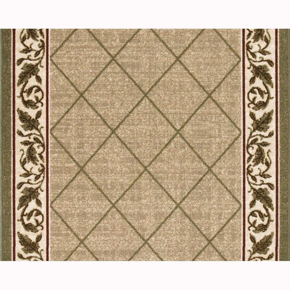 TrafficMASTER Regent Tan 26 In. X Your Choice Length Stair Runner