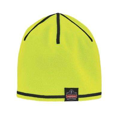 Lime and Gray Reversible Knit Cap