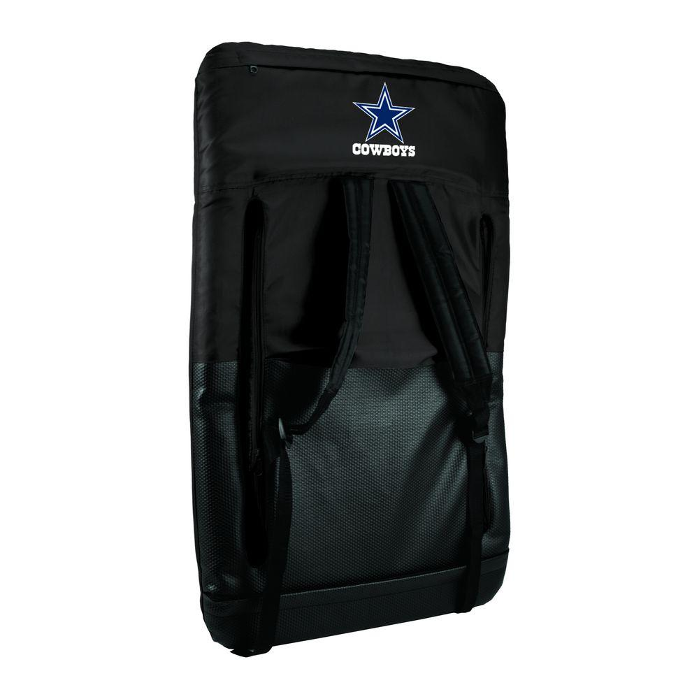 Ventura Dallas Cowboys Black Patio Sports Chair with Digital Logo