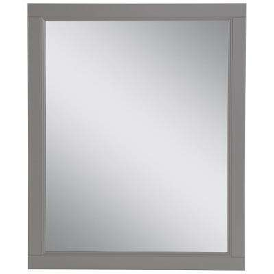 Claxby 25.67 in. W x 31.38 in. H Framed Wall Mirror in Sterling Gray