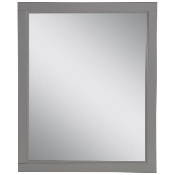 Claxby 26 in. W x 31 in. H Framed Wall Mirror in Sterling Gray