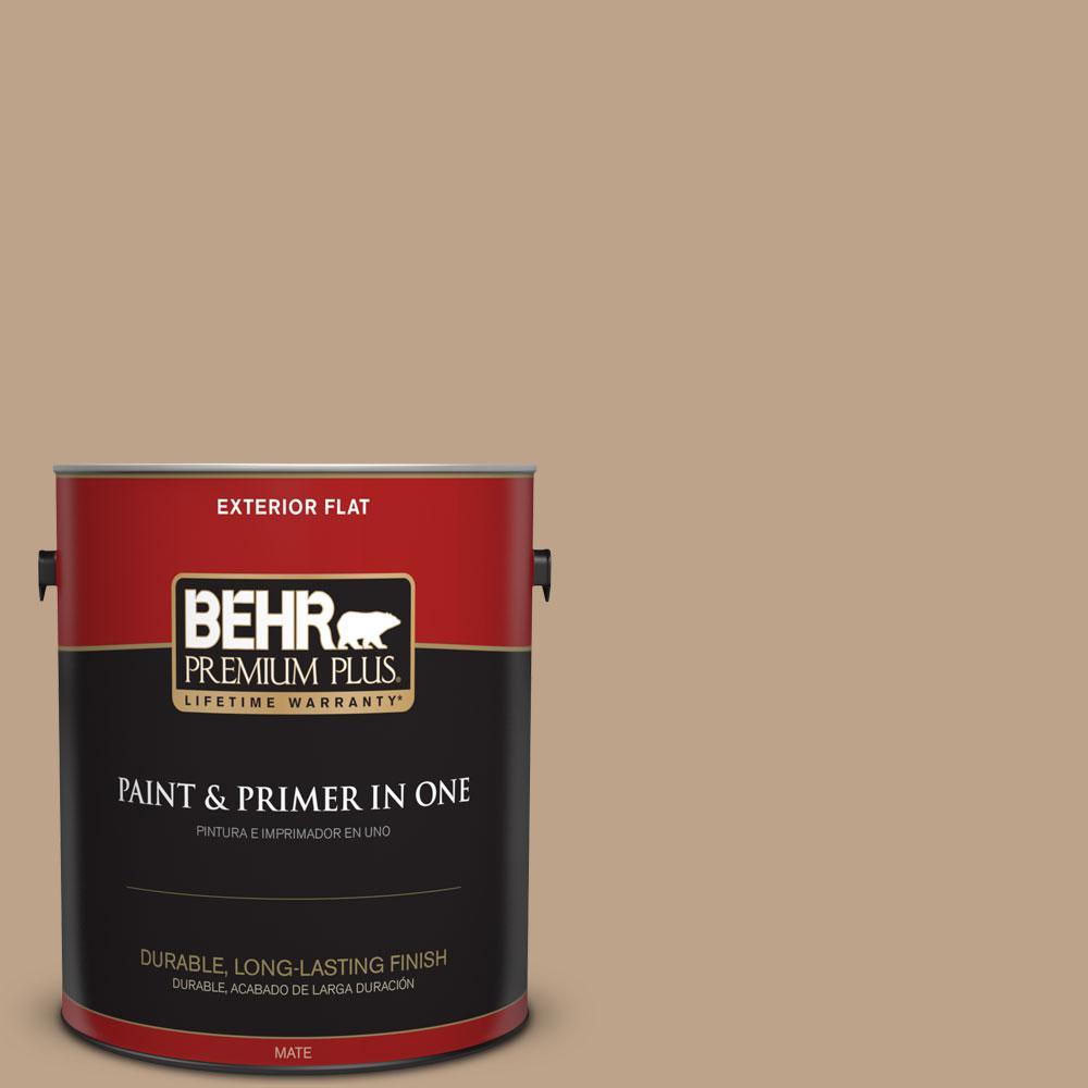 BEHR Premium Plus 1-gal. #N260-4 Merino Flat Exterior Paint