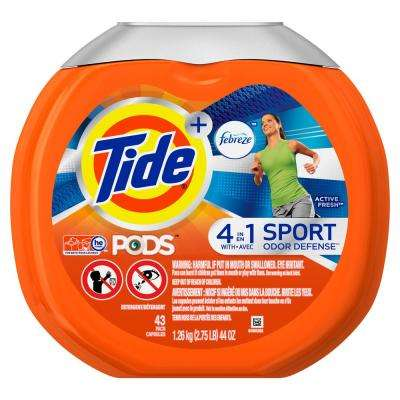 Pods Plus Febreze Odor Defense Active Fresh HE Laundry Detergent (43-Count)
