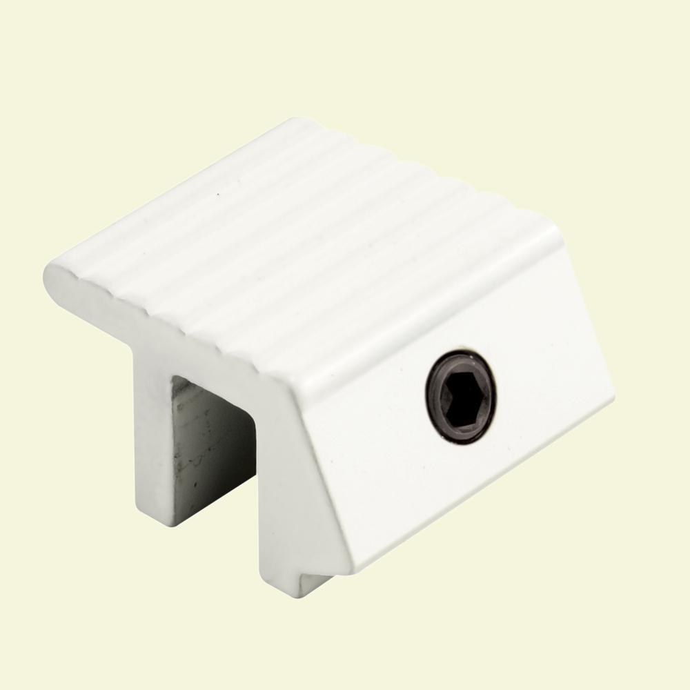 Prime-Line White Aluminum Sliding Window Sash Lock (2-Pack)