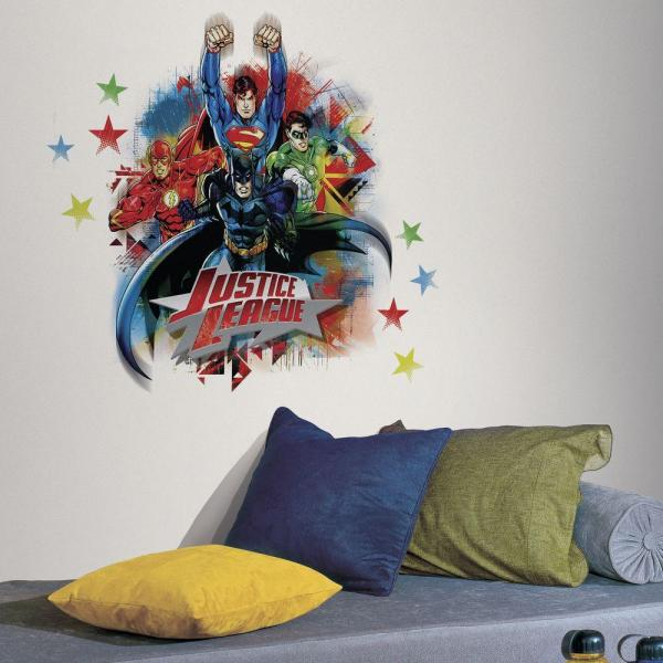 5 in. x 19 in. Justice League Peel and Stick Giant Wall Decal