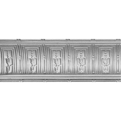 8-3/4 in. x 4 ft. x 8-3/4 in. Bare Steel Nail-up/Direct Application Tin Ceiling Cornice (6-Pack)