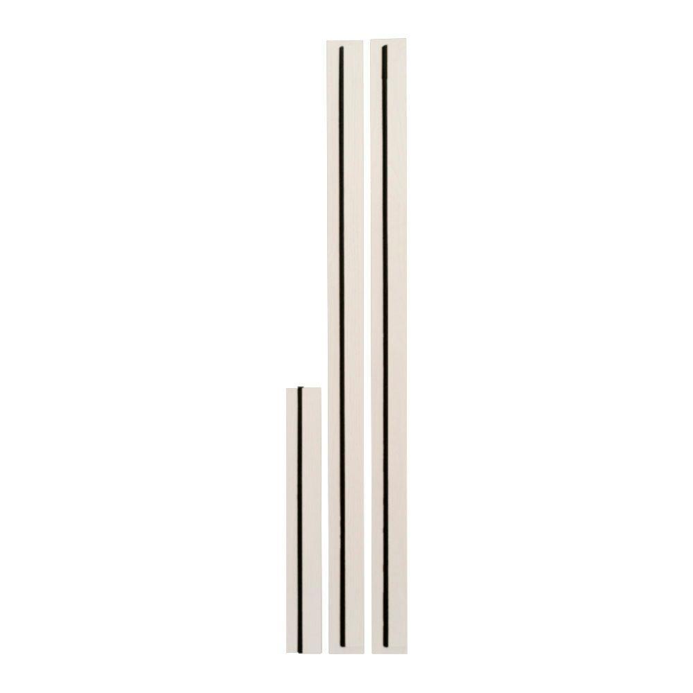 6 9 16 in exterior door jamb extension kit with bronze - Exterior door threshold extension ...