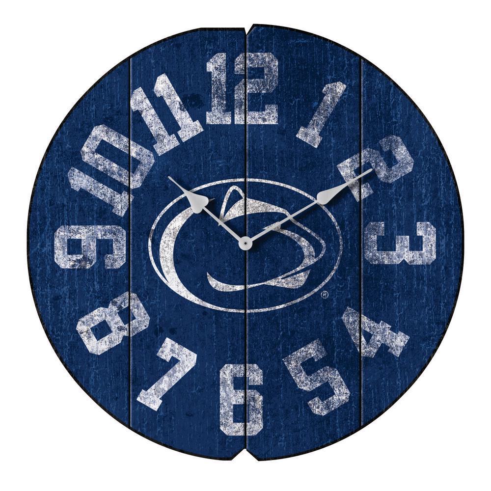 Penn State Vintage Round Clock