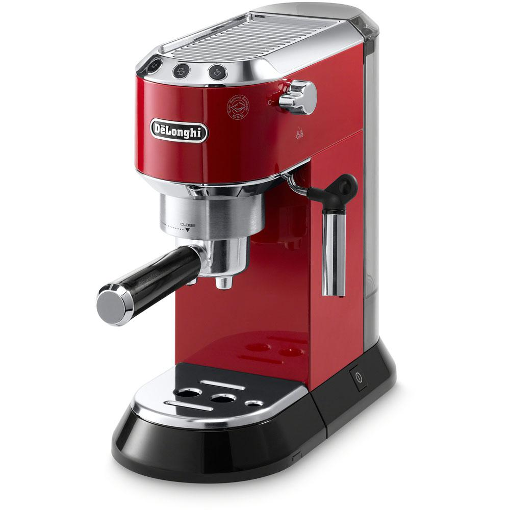 Delonghi Dedica Espresso and Cappuccino Machine, Red/Orange