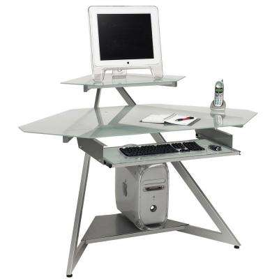 Catherine Multi-Purpose Computer and Video Game Work Station in Silver