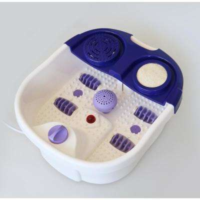 Pro Foot Spa with Warm Bath, Relaxation, Bubble, 2 Built-in Foot Care Attachments, Large Kneading Mechanisms