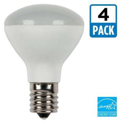 25W Equivalent Soft White R14 Dimmable LED Light Bulb (4-Pack)