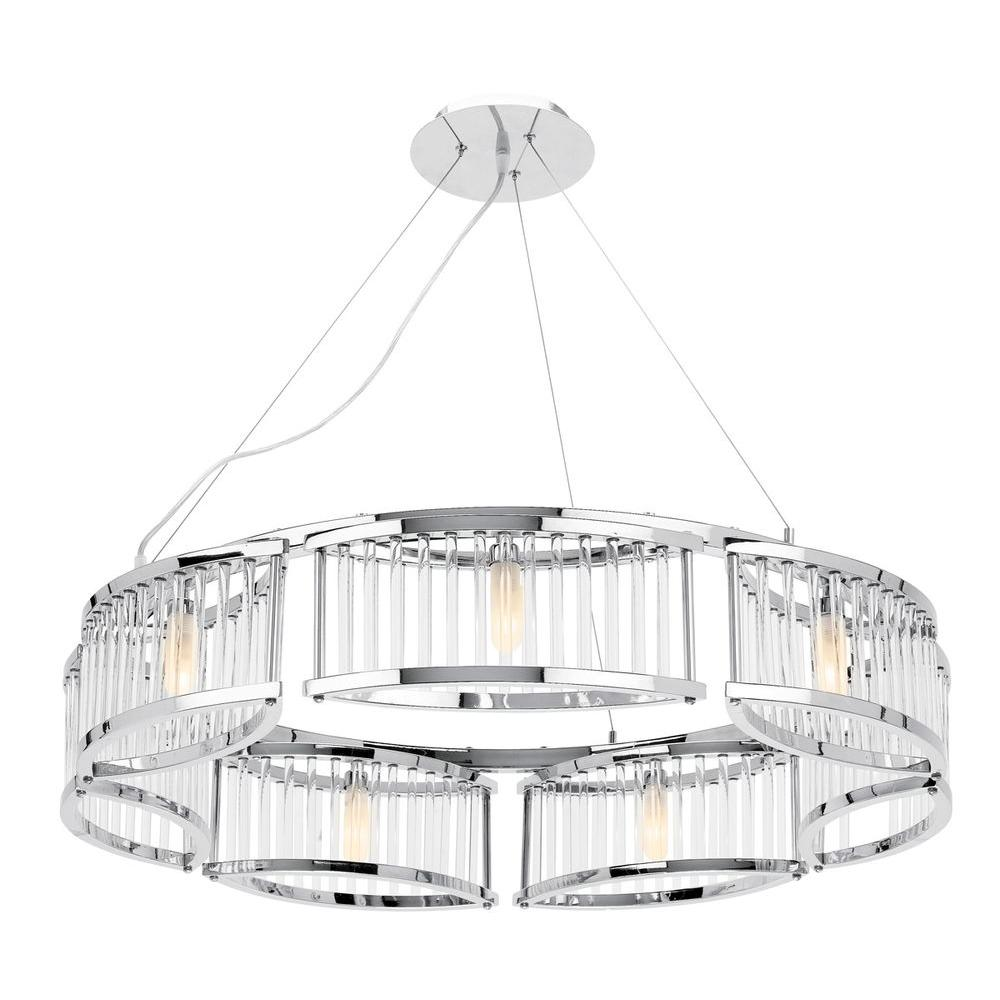 Access Lighting 7-Light Chandelier Chrome Finish Clear Crystal Glass-DISCONTINUED