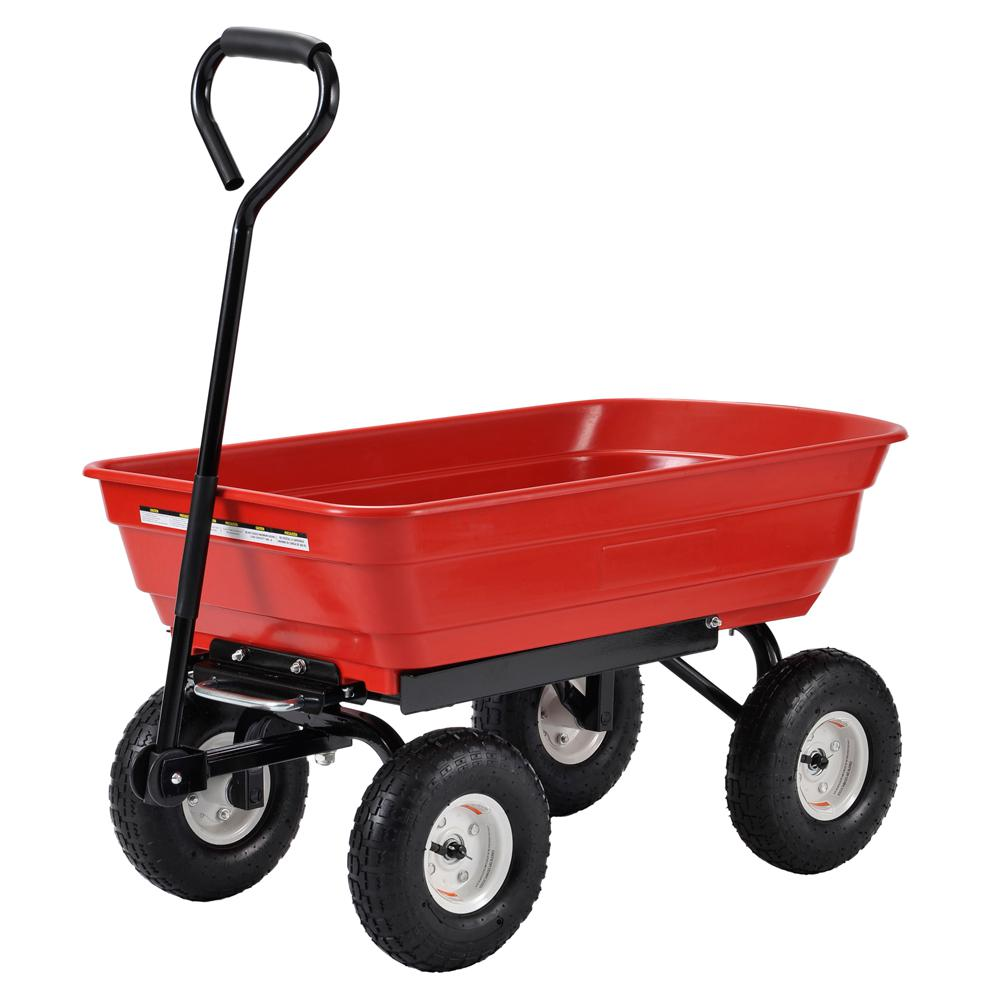 4 cu. ft. 20 in. W Plastic Garden Dump Cart
