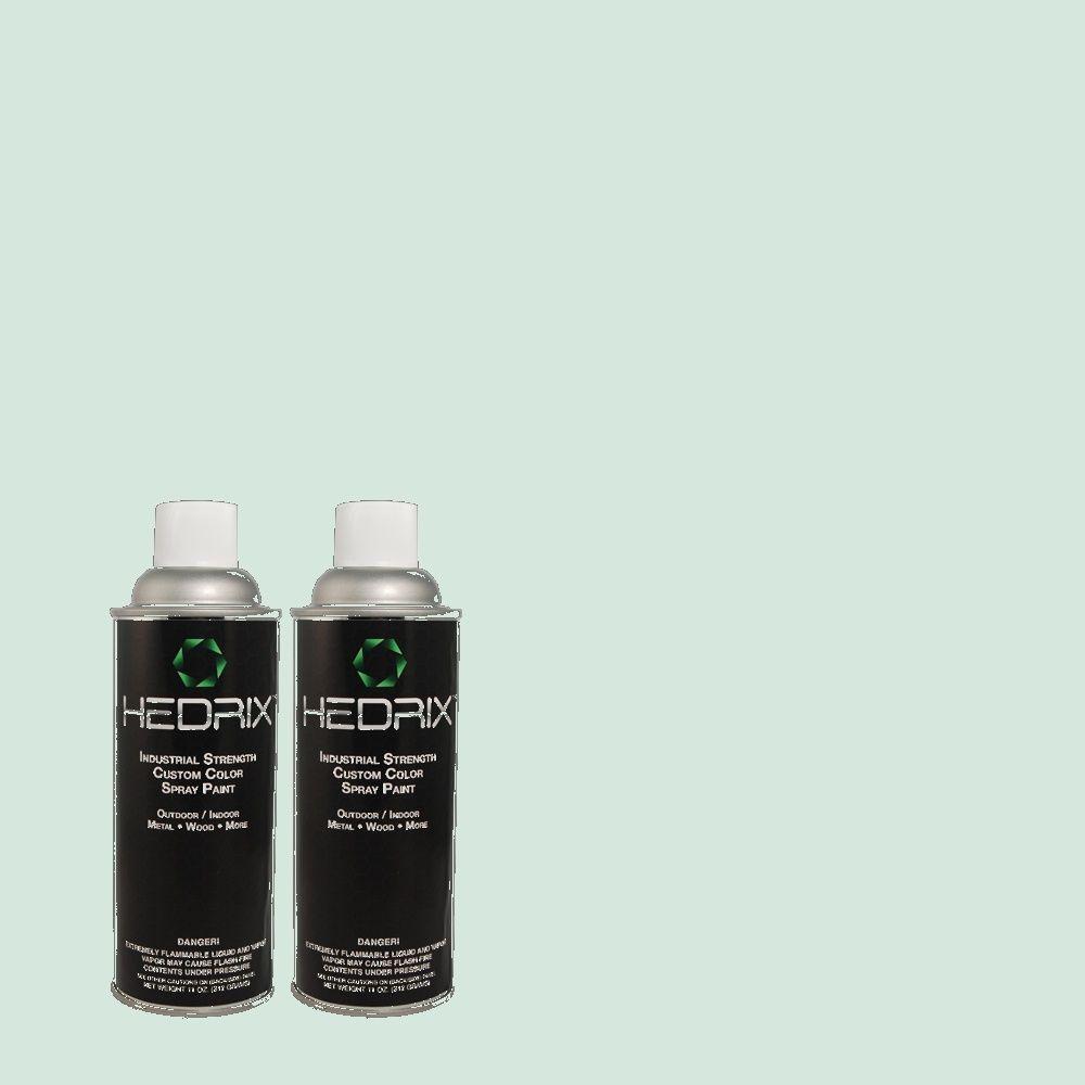 Hedrix 11 oz. Match of 2B53-1 Aqua Lite Gloss Custom Spray Paint (2-Pack)
