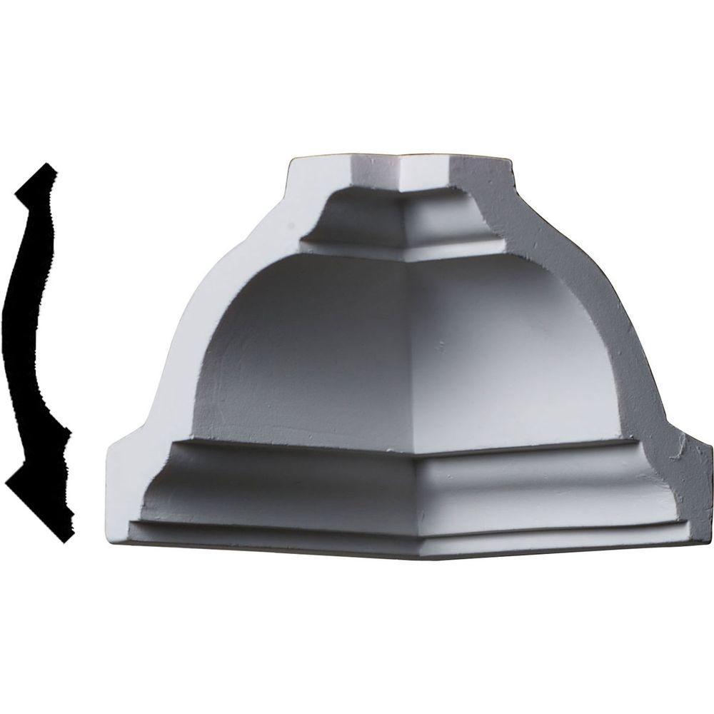 3-1/4 in. x 3-1/4 in. x 3-1/4 in. Polyurethane Crown Inside Corner Moulding